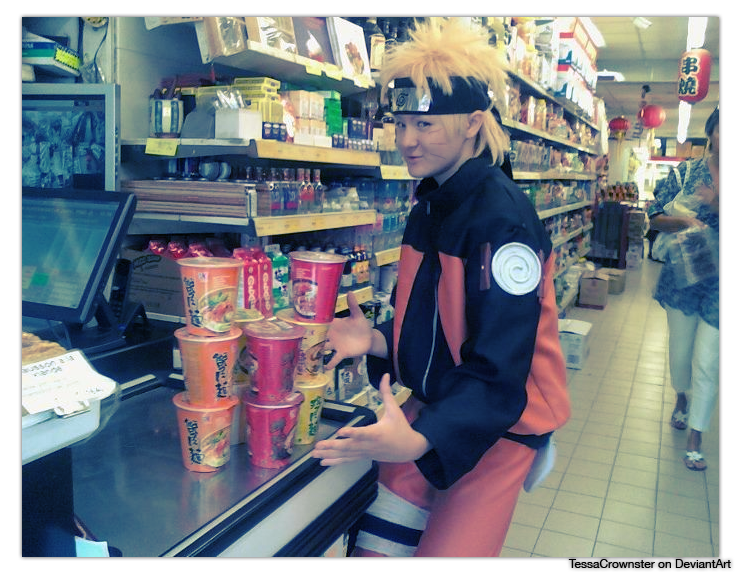 If Naruto went grocery shopping by TessaCrownster