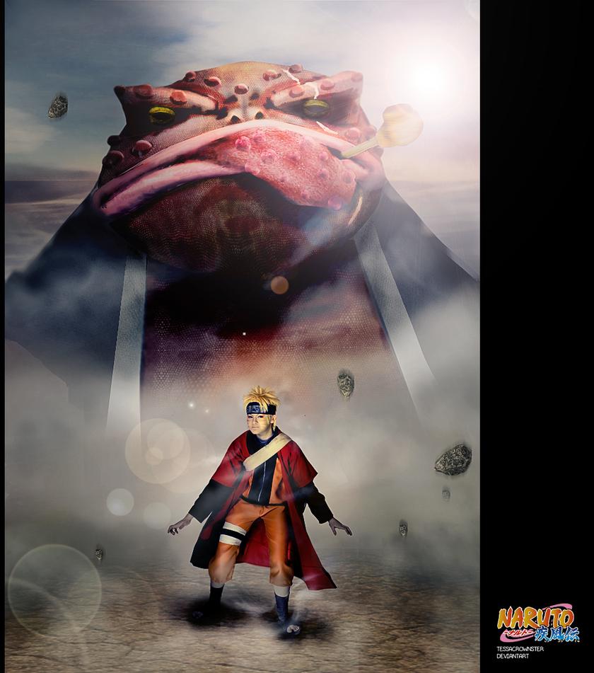 Naruto Uzumaki Cosplay - Sennin mode by TessaCrownster