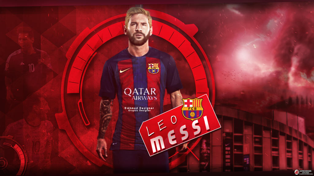 Messi Wallpaper By Ahmed Gfx1