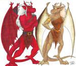 Gargoyles-Titan and Brooke