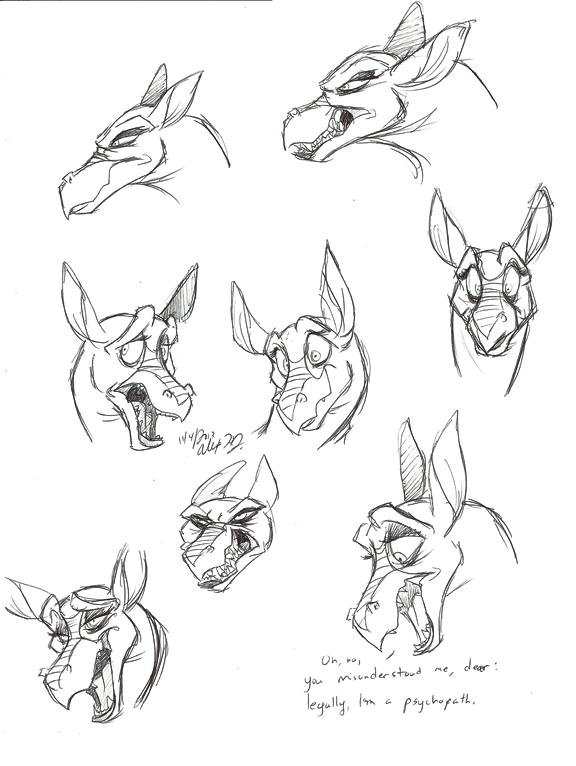 Titan A.E.-Djetta warm-up sketches by Stray-Sketches