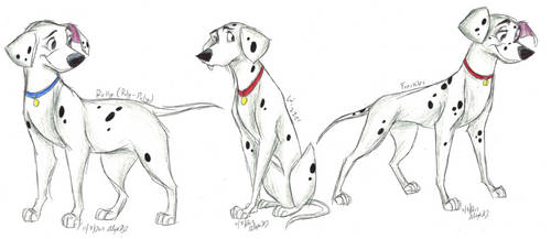 101 Dalmatians-Grown-Up Pups part 2 by Stray-Sketches