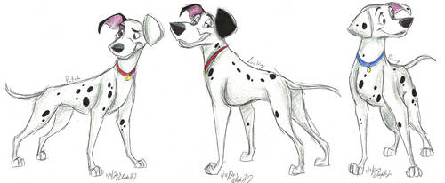 101 Dalmatians Grown-Up Pups part 3 by Stray-Sketches