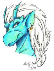 Gargoyles-Tachi headshot 02 by Stray-Sketches