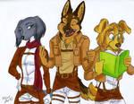 Art Trade-Dogs on Titan