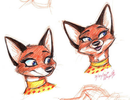 Felicity Fox sketches