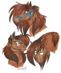 Stray horses doodle