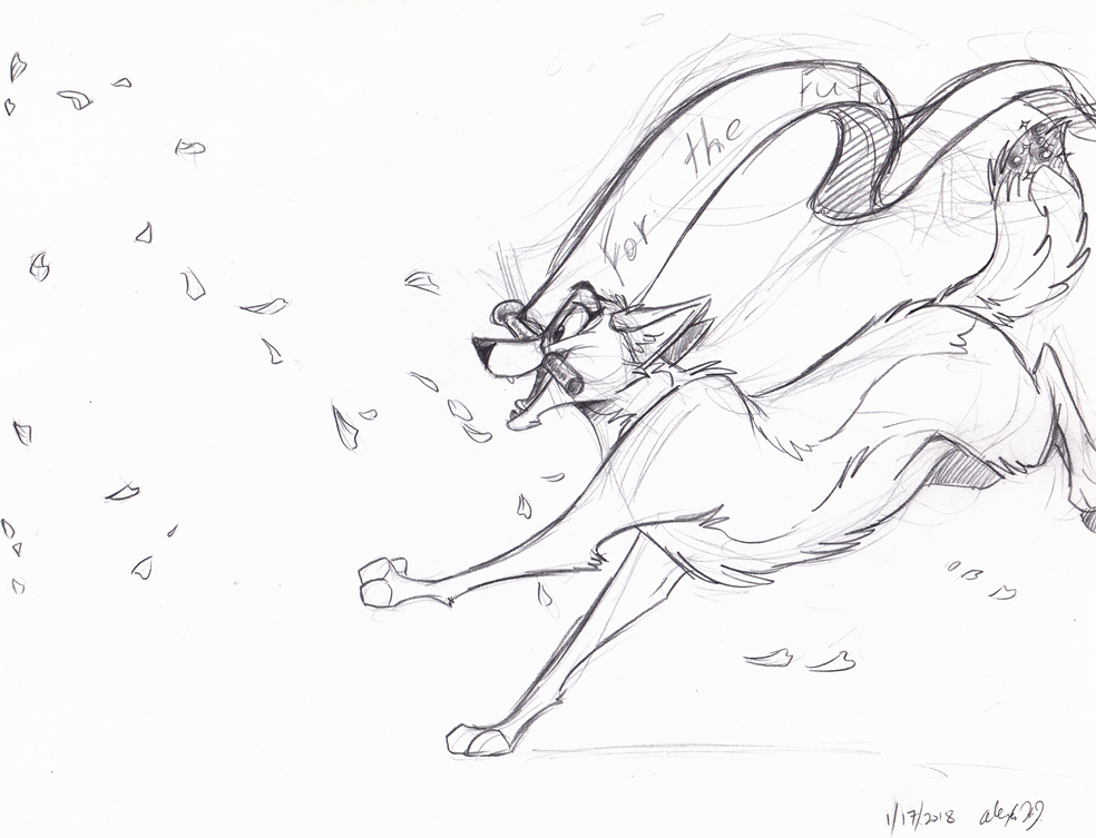 Run Towards the Future-sketch by Stray-Sketches