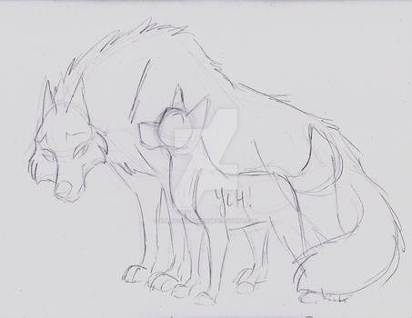 White Wolf/Ainu YCH Sketch