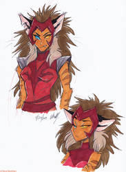She Ra - Catra doodles by Stray-Sketches