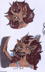 Gargoyles - Siden headshot doodles