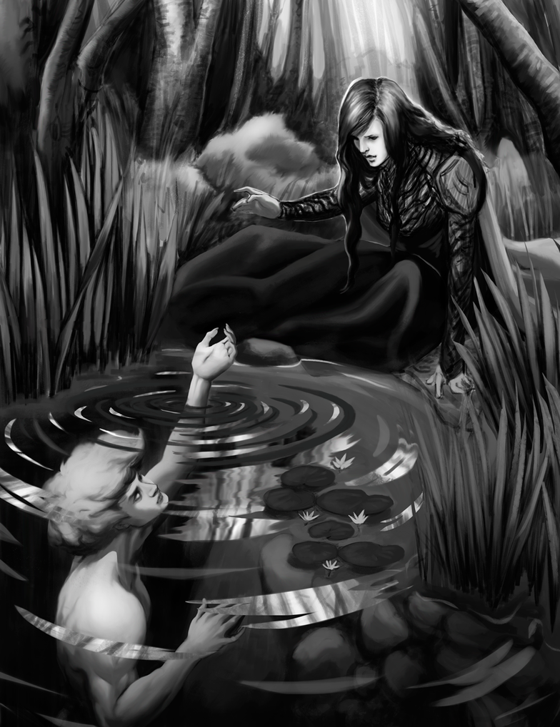 Invitation. The Maiden and the Spirit of the Pond by shiva-tron