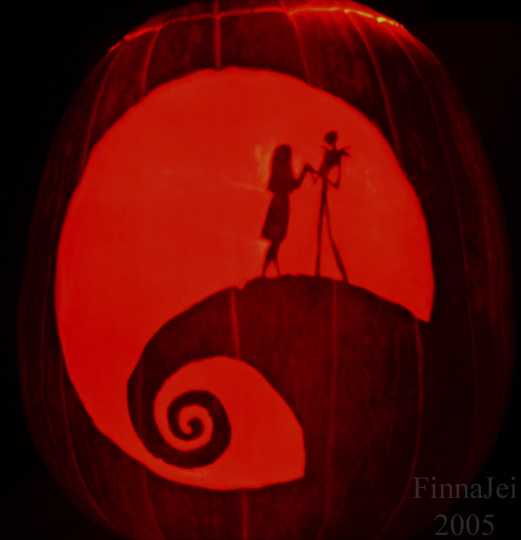 Jack and Sally Pumpkin by FinnaJei