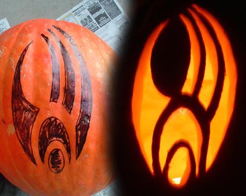 Borg Symbol Pumpkin by FinnaJei