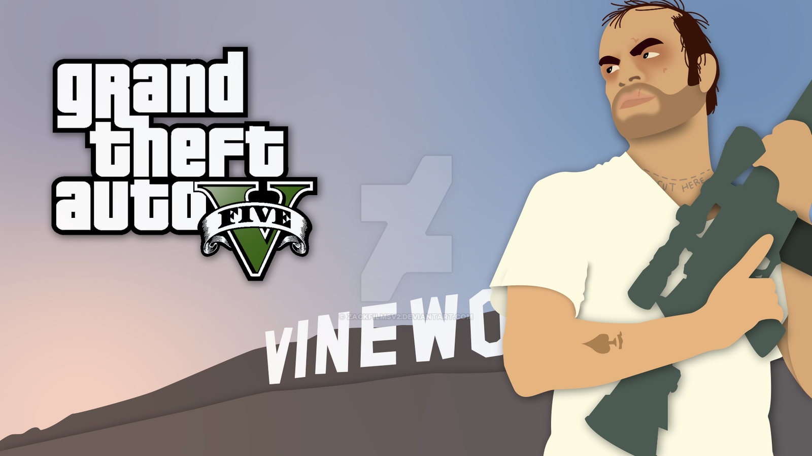 Minimalist GTA V Trevor By ZackfilmsV2 On DeviantArt