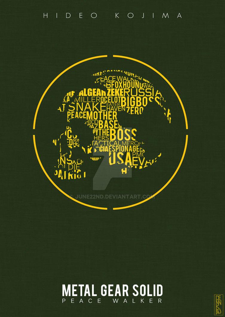 Metal Gear Solid Peace Walker Poster By June22nd On Deviantart