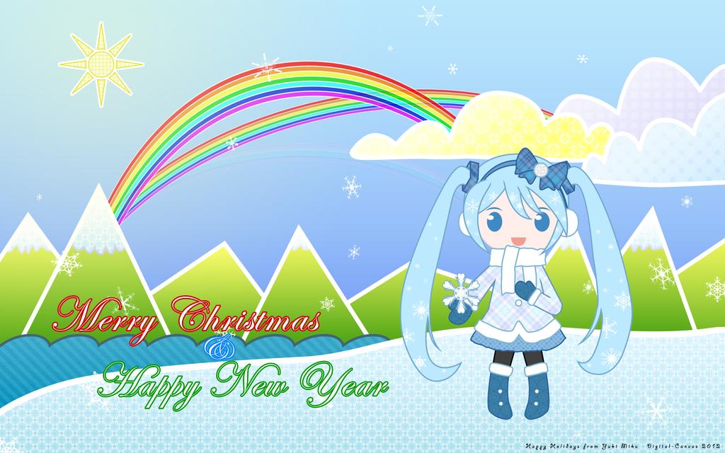 Happy Holidays from Yuki Miku by Digital-Canvas
