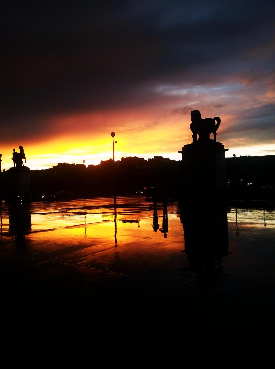 paris sunset by photoss