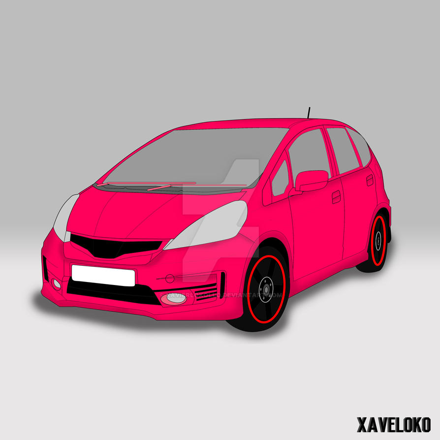 Honda Jazz vector by xavierlokollo