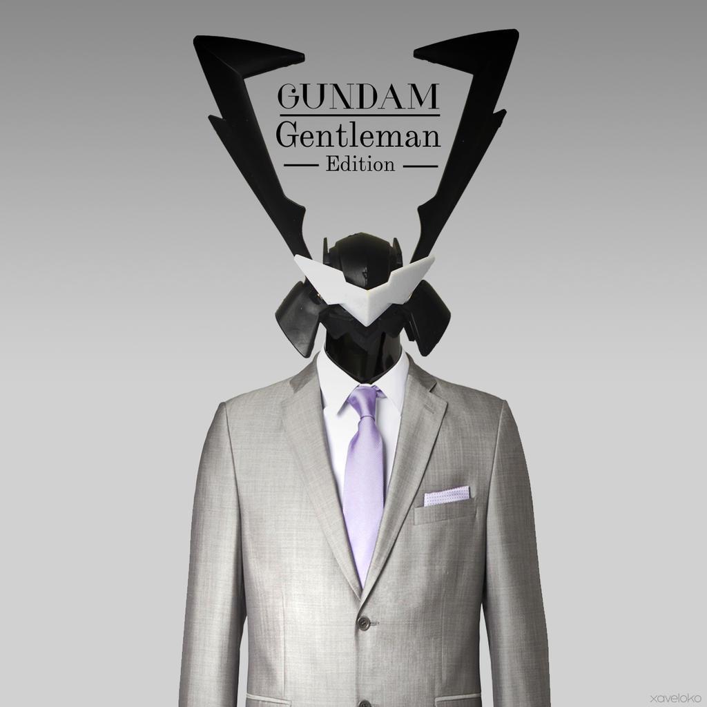 Gundam Gentleman by xavierlokollo