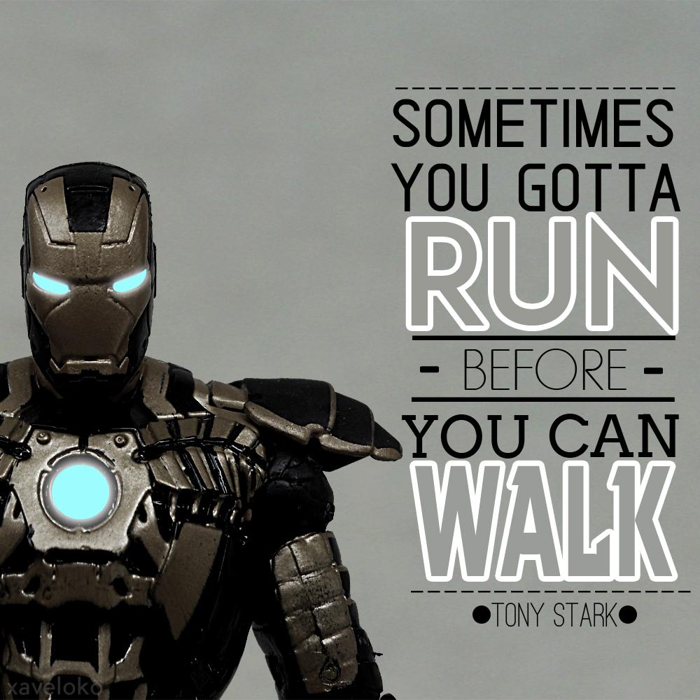 Tony Stark Inspiring Words Typo by xavierlokollo