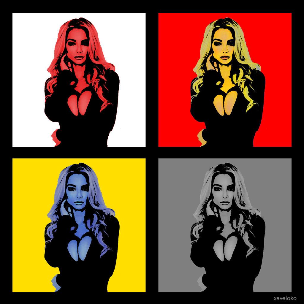 Lindsey Pelas pop art by xavierlokollo
