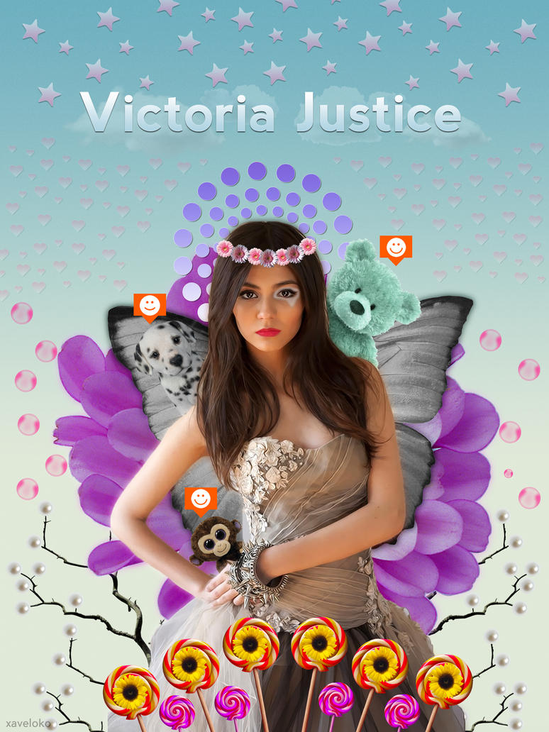Victoria Justice Funny Poster by xavierlokollo
