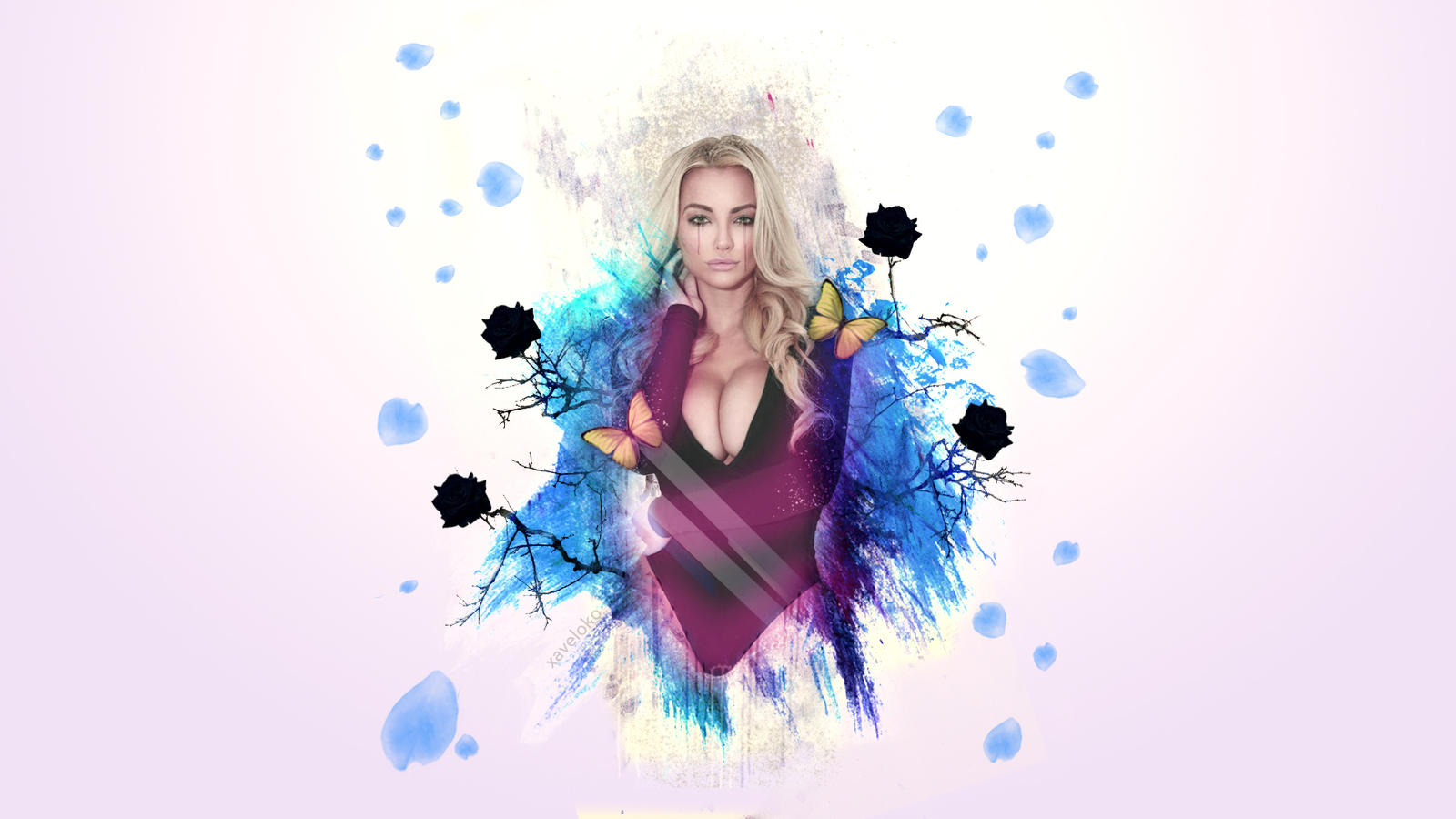 Lindsey Pelas Abstract Art Wallpaper by xavierlokollo