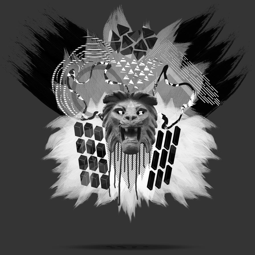 Lion Head Abstract by xavierlokollo