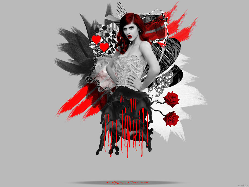 Alexandra Daddario Abstract Art by xavierlokollo
