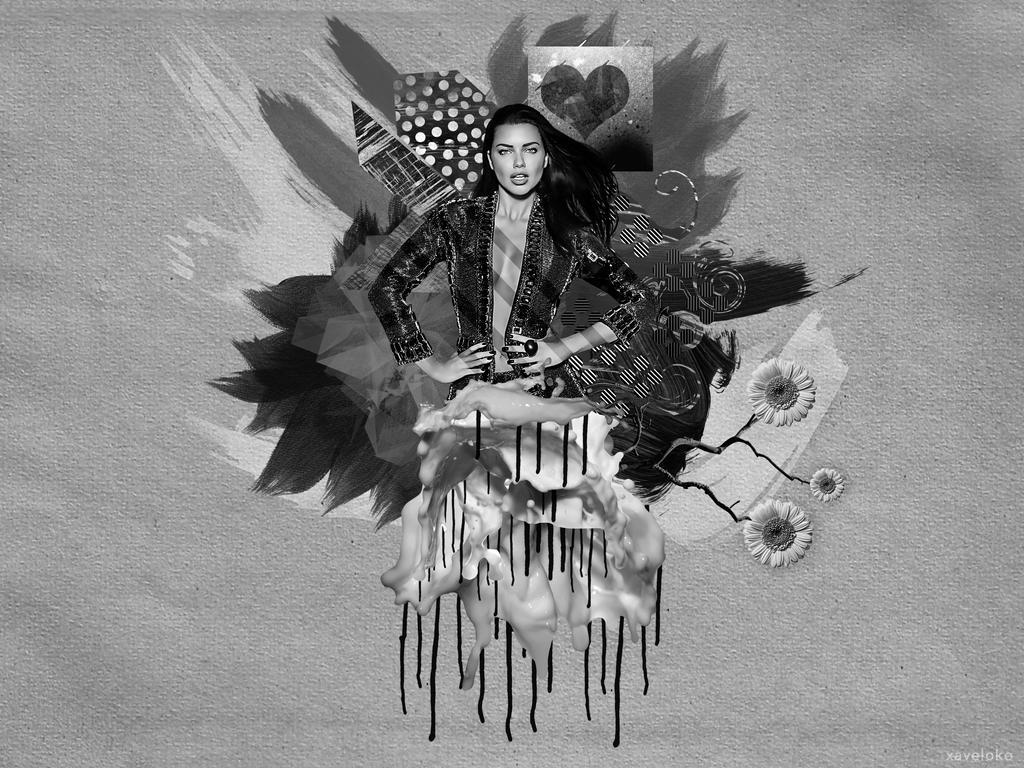Adriana Lima Grey Scheme by xavierlokollo