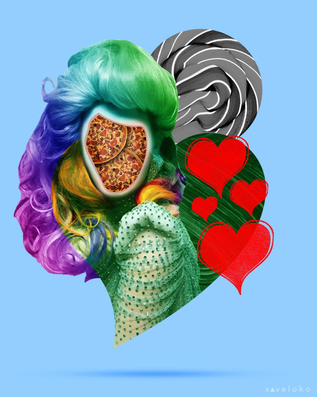 Pizza Face by xavierlokollo