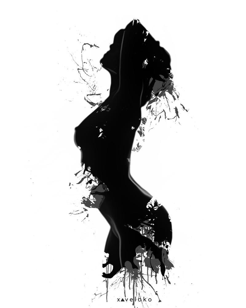 Sensual silhouette by xavierlokollo