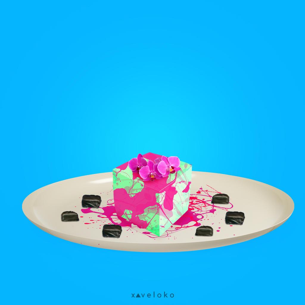 Pink Splash Dessert by xavierlokollo