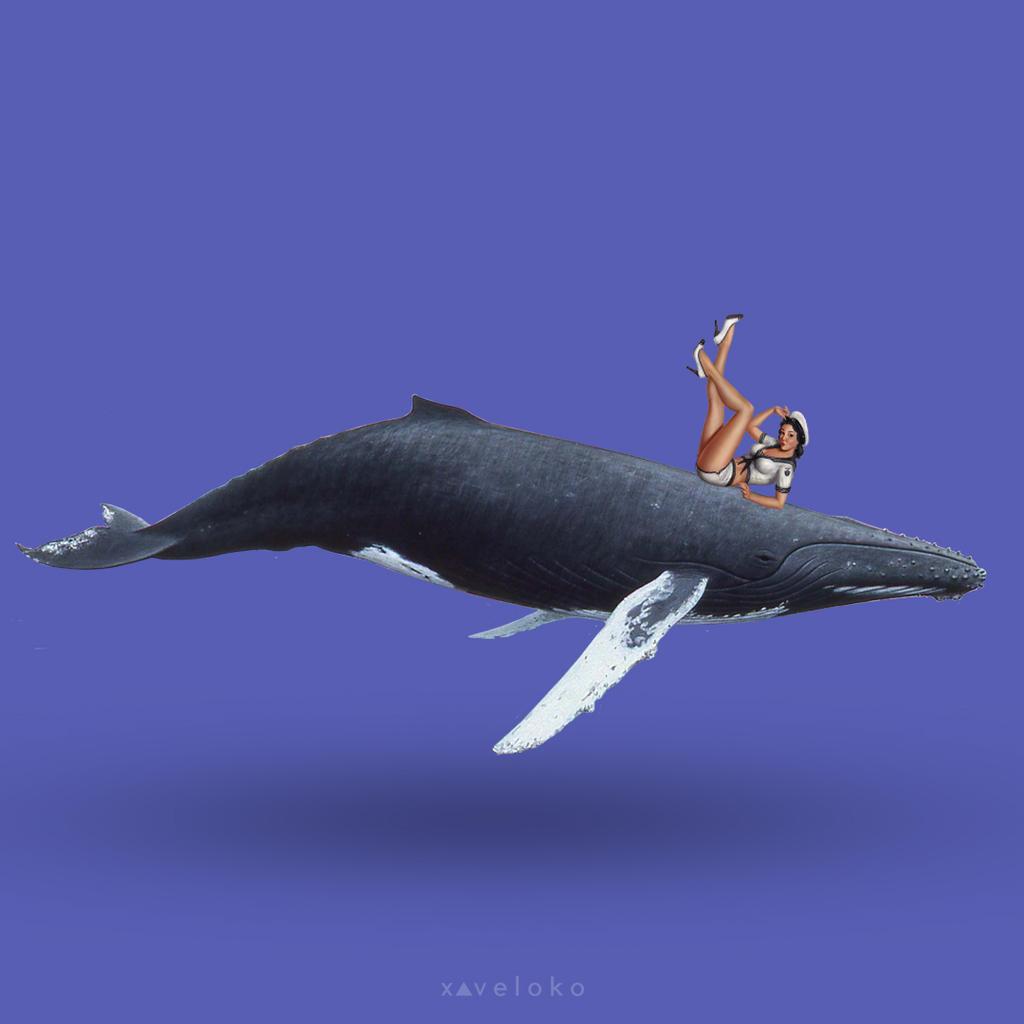Floating Blue  by xavierlokollo