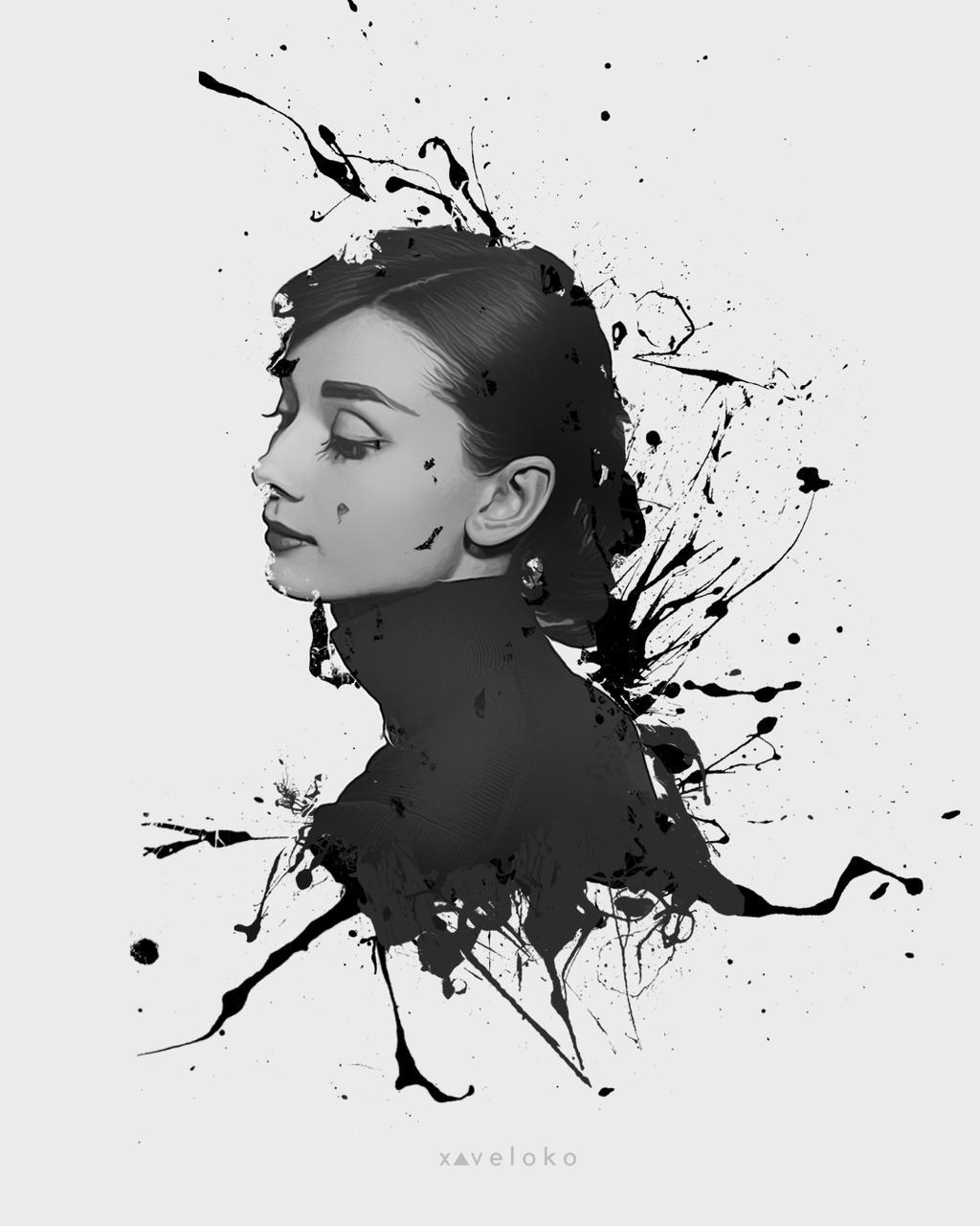 Audrey Hepburn by xavierlokollo