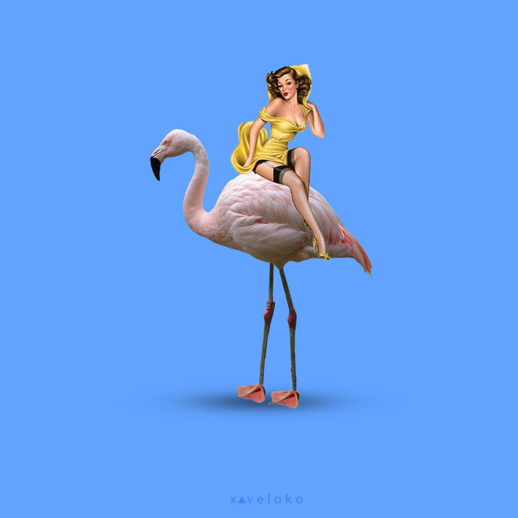 Flamingirl  by xavierlokollo