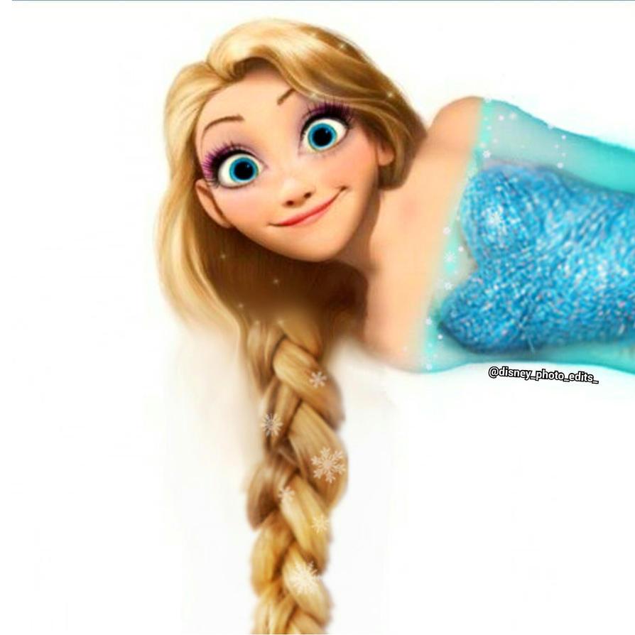 Rapunzel Cosplaying Elsa by Eri-nyan on DeviantArt