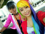 Rainbow Dash and Countess Coloratura Cosplay