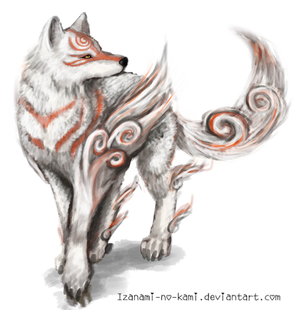 Amaterasu From Okami // Drawing