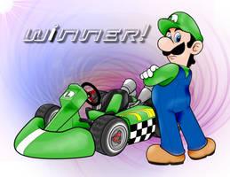 Luigi Kart by TyraeClouds