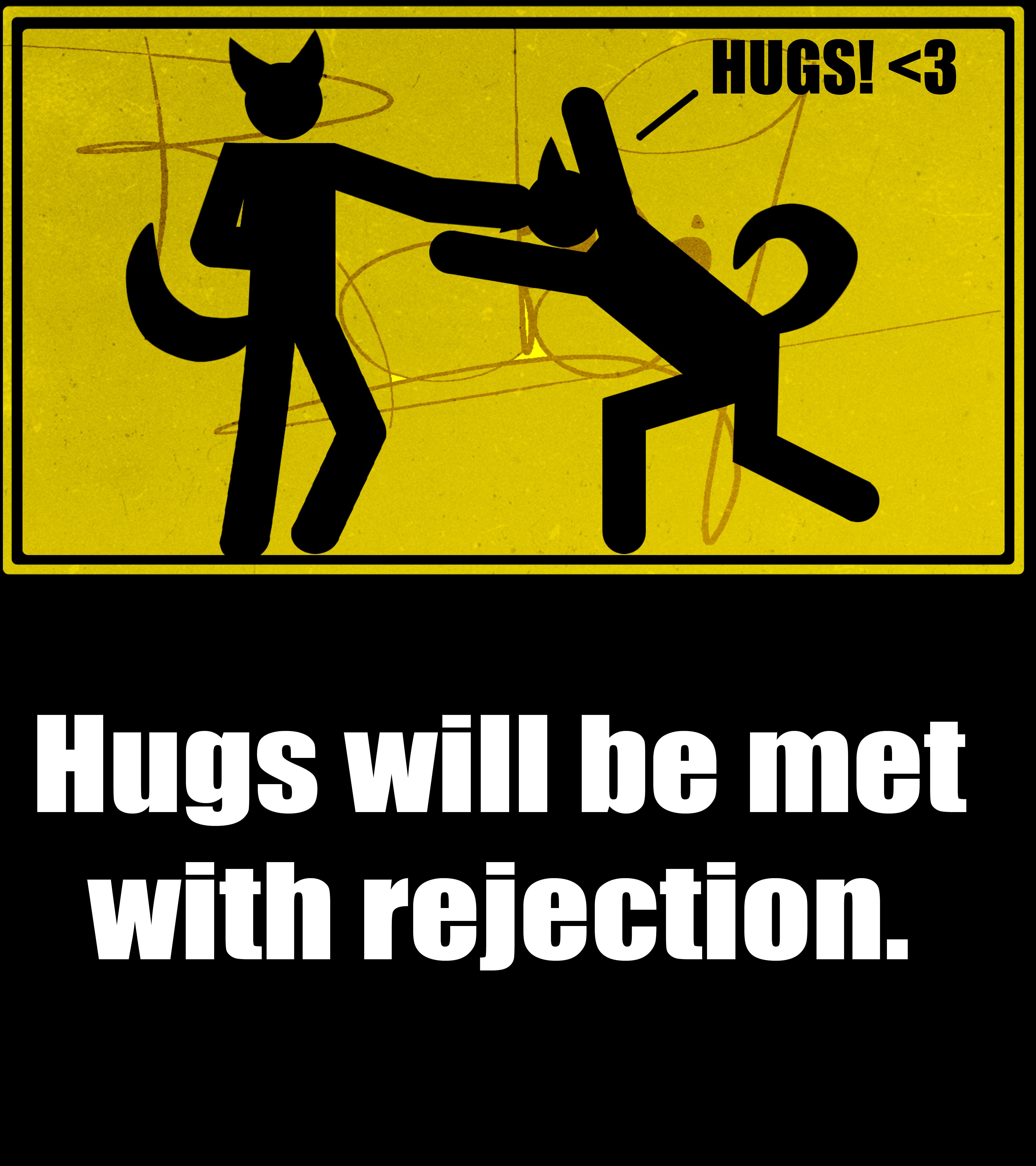 NO HUGS by Shookso