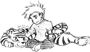 Calvin and Hobbes 2 by pedal