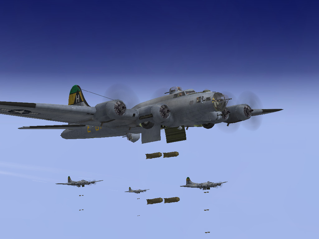 B-17Gs releasing its bombs by SindreAHN