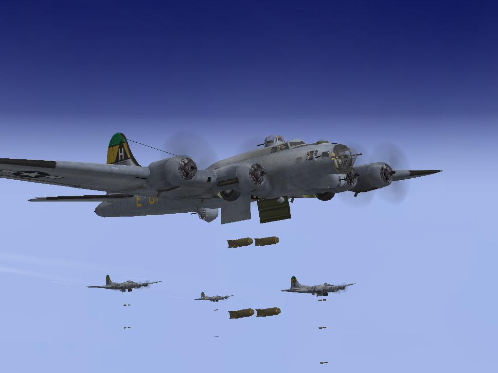 B-17Gs releasing its bombs by SindreAHN