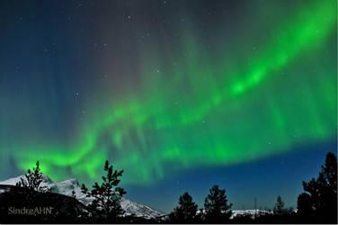 Auroras North of Mjelle by SindreAHN