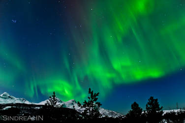 Auroras North of Mjelle II by SindreAHN