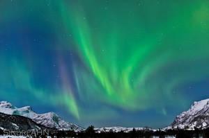 Auroras through Mistfjorden by SindreAHN