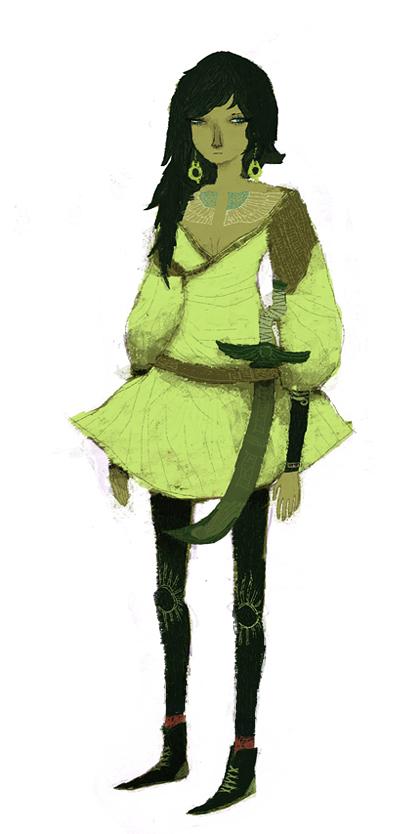 warriorgirl_concept by louisroskosch