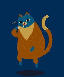 levitation cat by louisroskosch